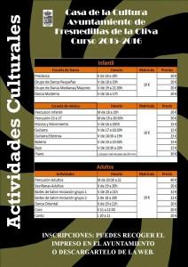 cartel actividades culturales 2015-2016