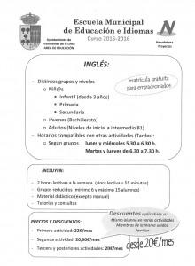 más información clases ingles